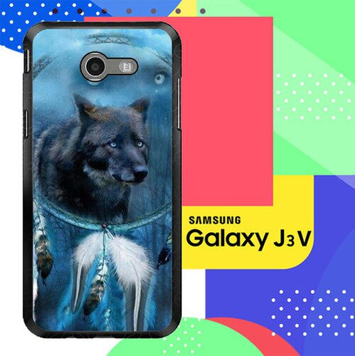 WOLF DREAM CATCHER F0247 Samsung Galaxy J3 Emerge, J3 Eclipse , Amp Prime 2, Express Prime 2 2017 SM J327 coque fundas