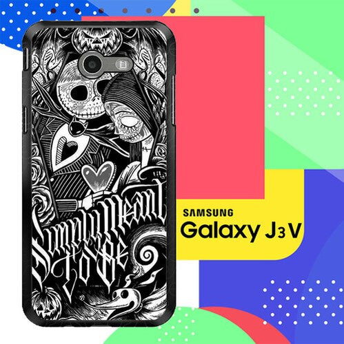 Jack And Sally Muertitos The Nightmare Before Christmas F0874 Samsung Galaxy J3 Emerge, J3 Eclipse , Amp Prime 2, Express Prime 2 2017 SM J327 coque fundas