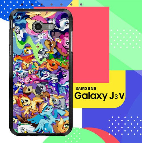 MY LITTLE PONY COLLAGE Z1359 Samsung Galaxy J3 Emerge, J3 Eclipse , Amp Prime 2, Express Prime 2 2017 SM J327 coque fundas