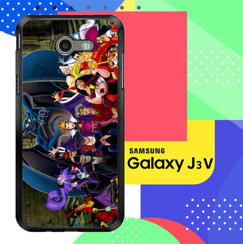 New Disney Villains Z1466 Samsung Galaxy J3 Emerge, J3 Eclipse , Amp Prime 2, Express Prime 2 2017 SM J327 coque fundas