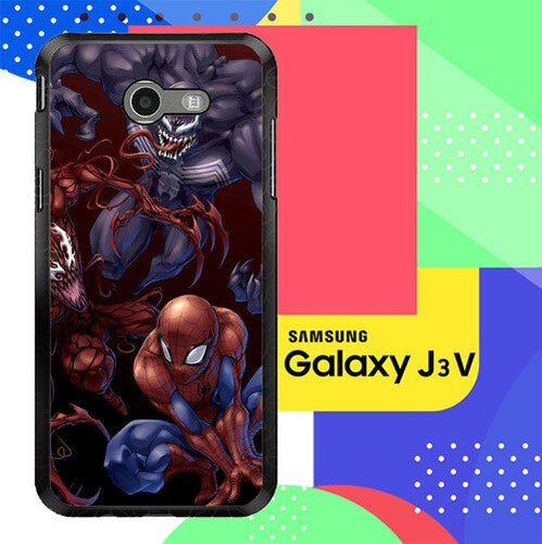 Spiderman Venom Carnage Back Z1619 Samsung Galaxy J3 Emerge, J3 Eclipse , Amp Prime 2, Express Prime 2 2017 SM J327 coque fundas