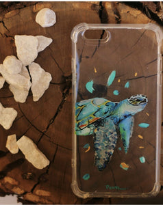 painted cell phone case funda pintada a mano para iPhone Samsung
