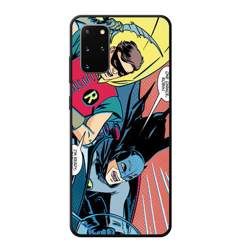 coque custodia cover fundas hoesjes j3 J5 J6 s20 s10 s9 s8 s7 s6 s5 plus edge B11901 Batman And Robin Comic J0617 Samsung Galaxy S20 Plus Case
