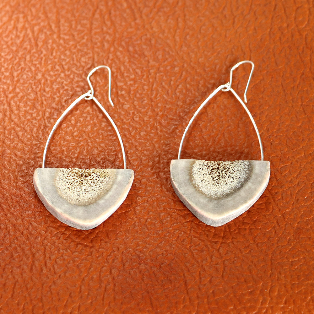 Load image into Gallery viewer, Earrings, Antler Half Circles