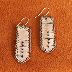 Load image into Gallery viewer, Earrings, Beaded Birch Bark
