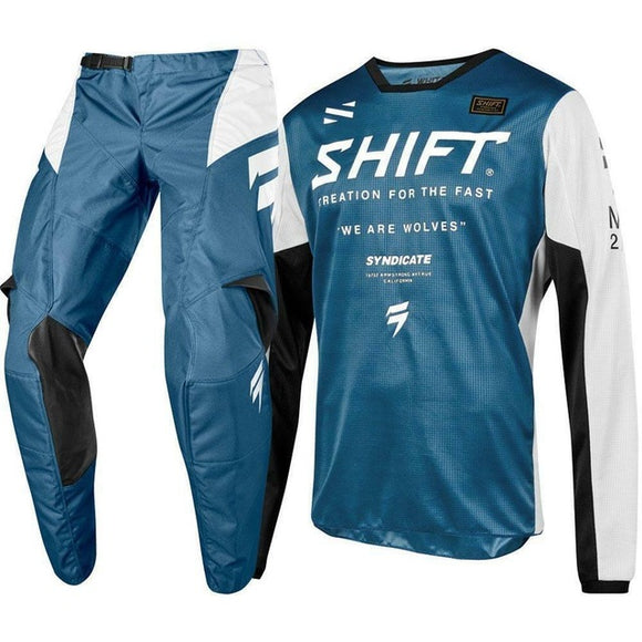 Tenue Shift Bleu/Blanc - Extreme Motocross