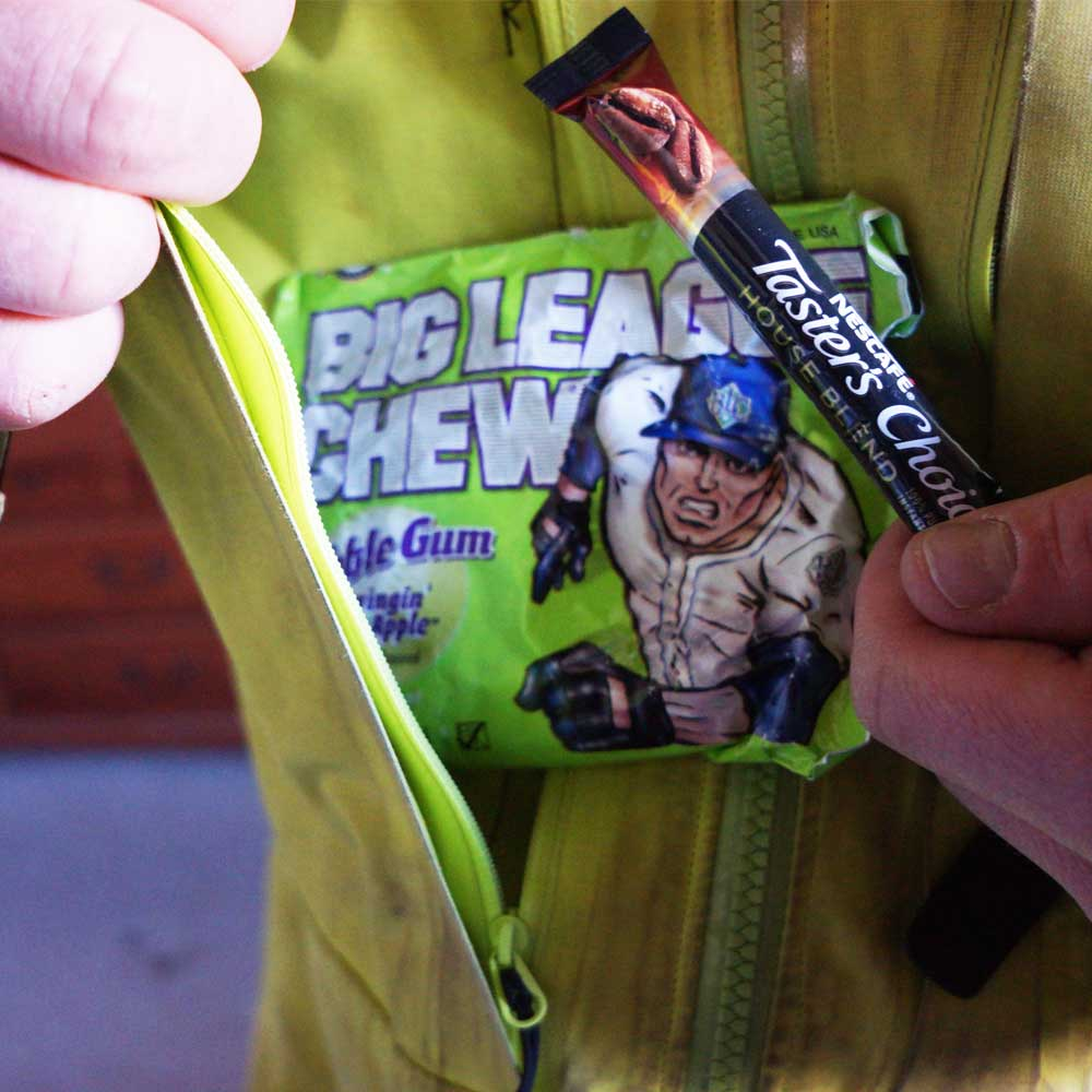 big league chew into pocket