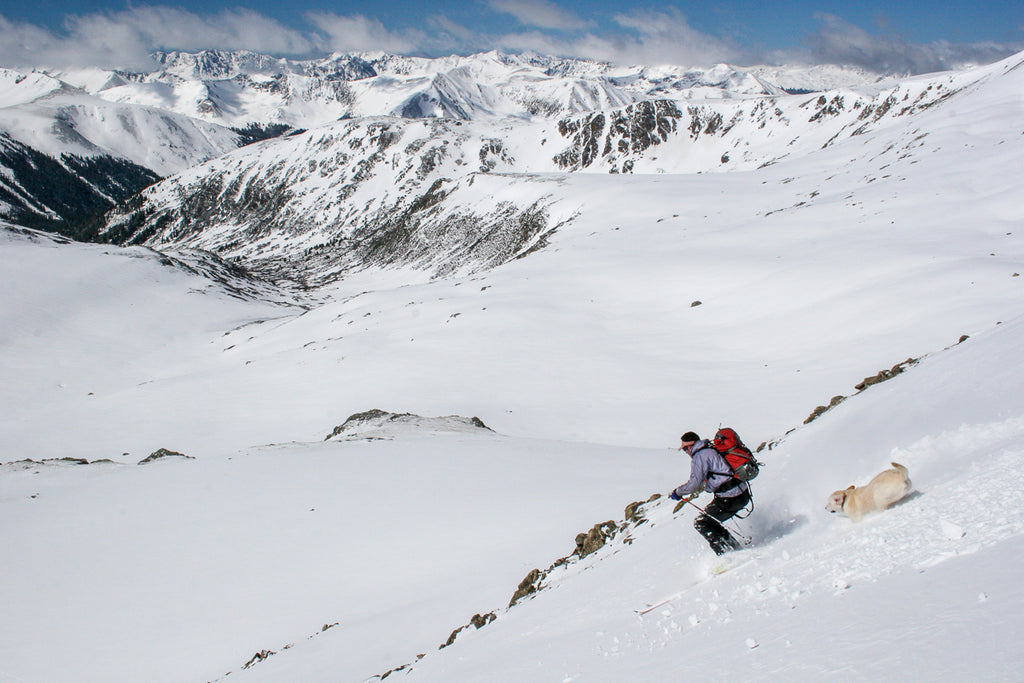 Skiing in Upper Lost man on Independence Pass
