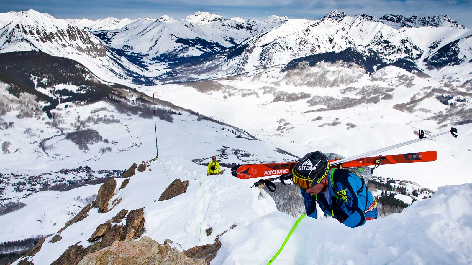 John Gaston at Crested Butte skimo race