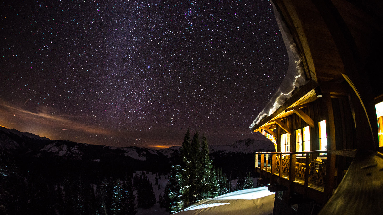 Starry sky over Opa's hut