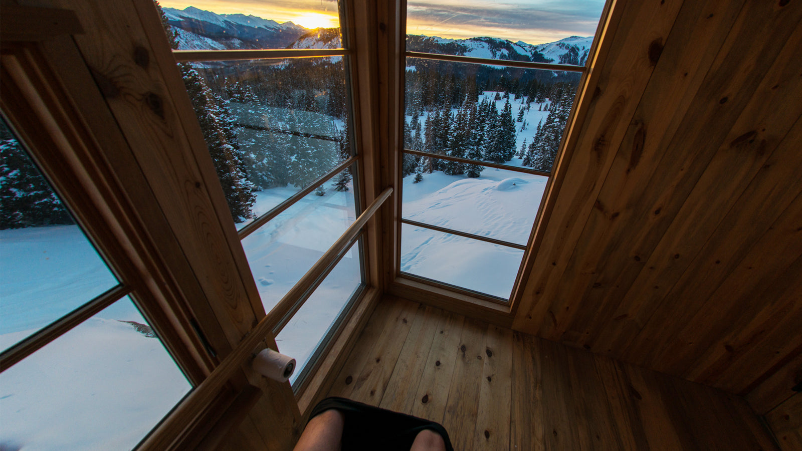 Sunset from the throne at Opa's hut