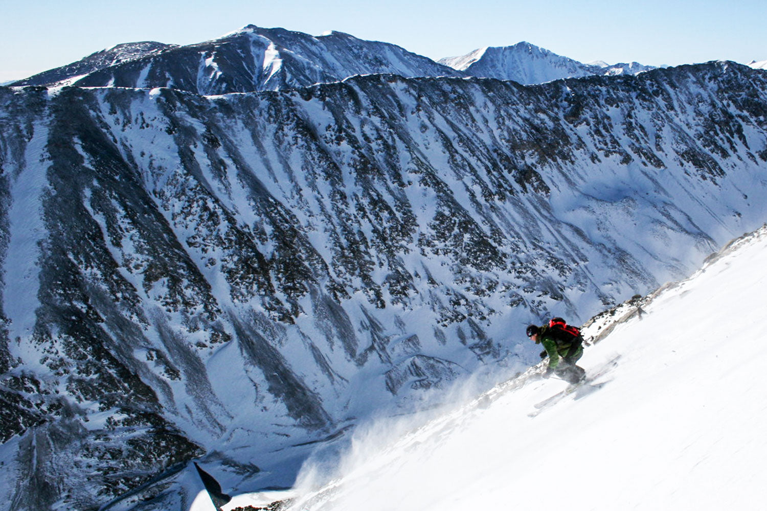 Backcountry skier on Quandry