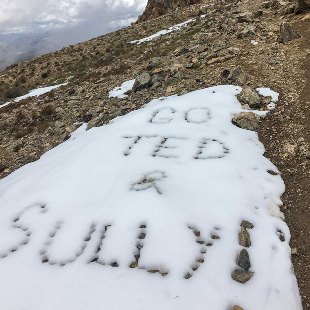 Message in snow