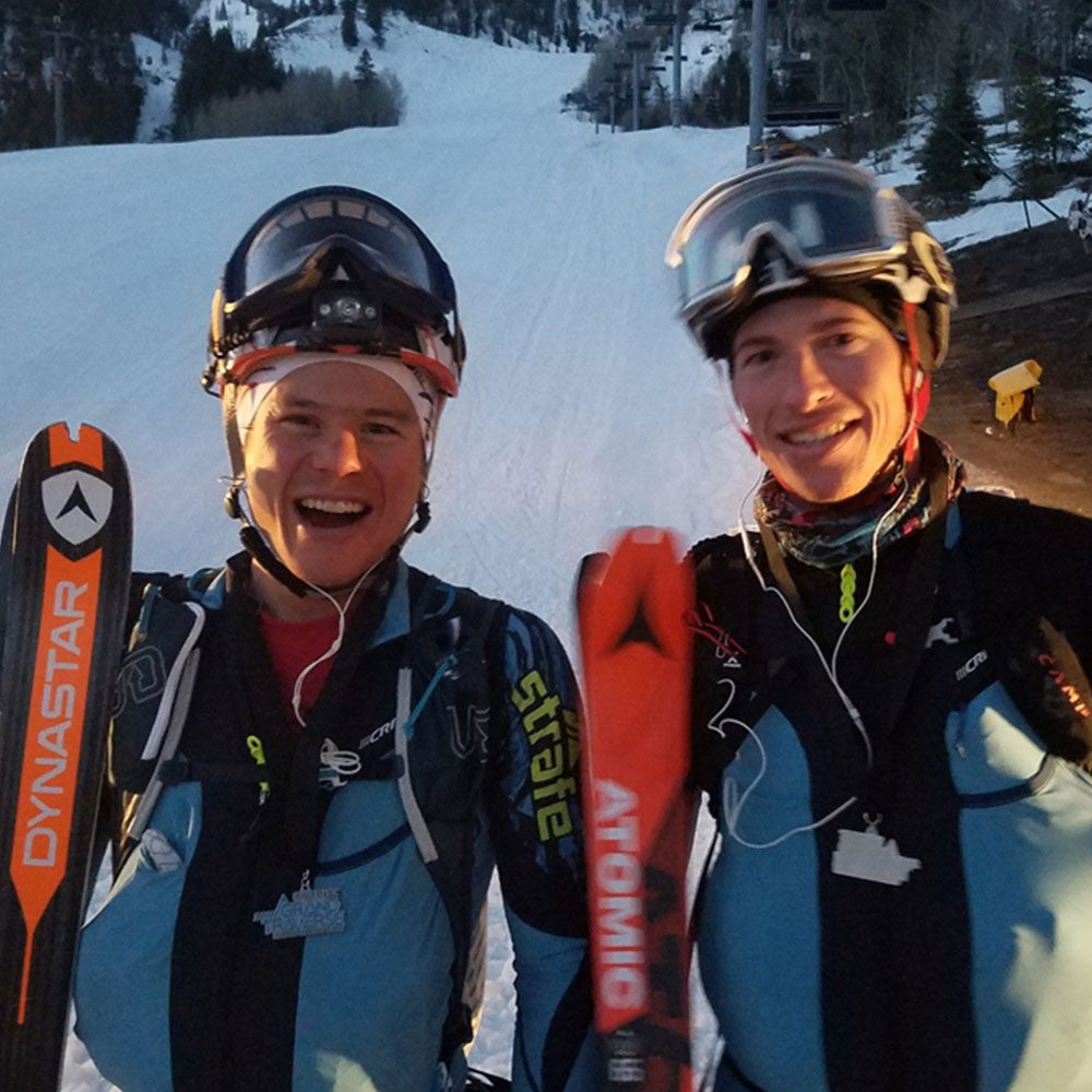 Max Taam and John Gaston after Grand Traverse skimo race