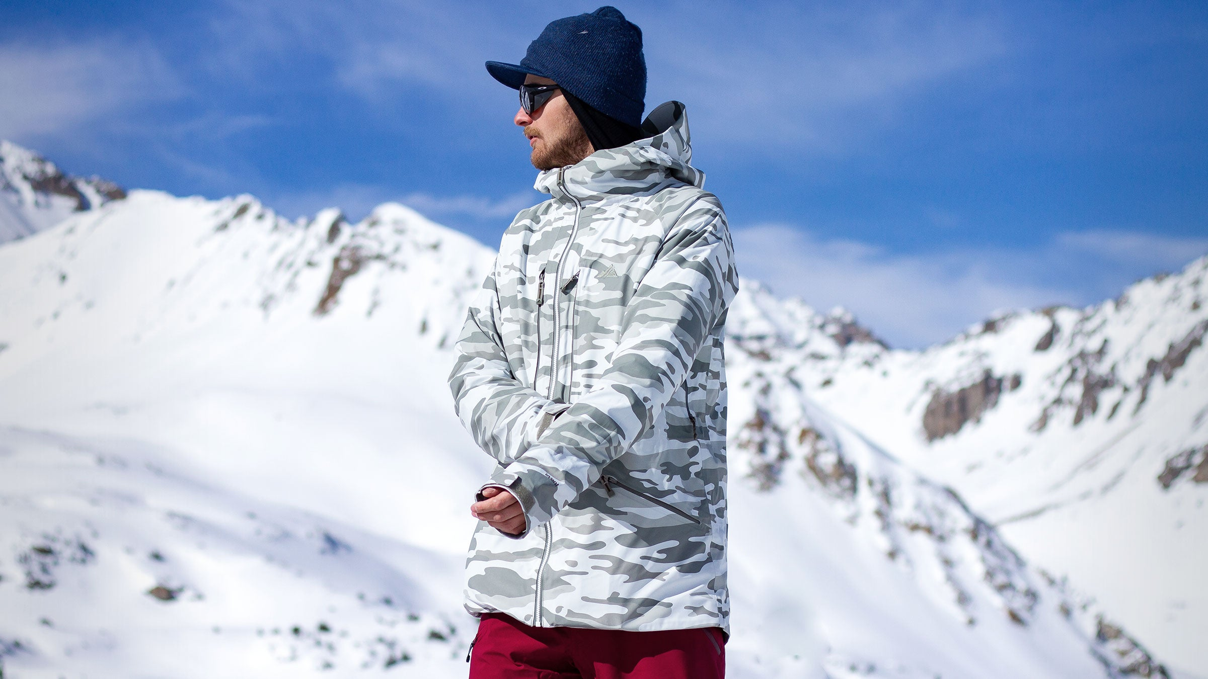 George Rodney in aspen camo nomad jacket