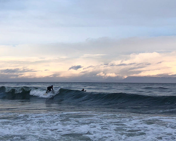 Winter surfing off Vancouver Island