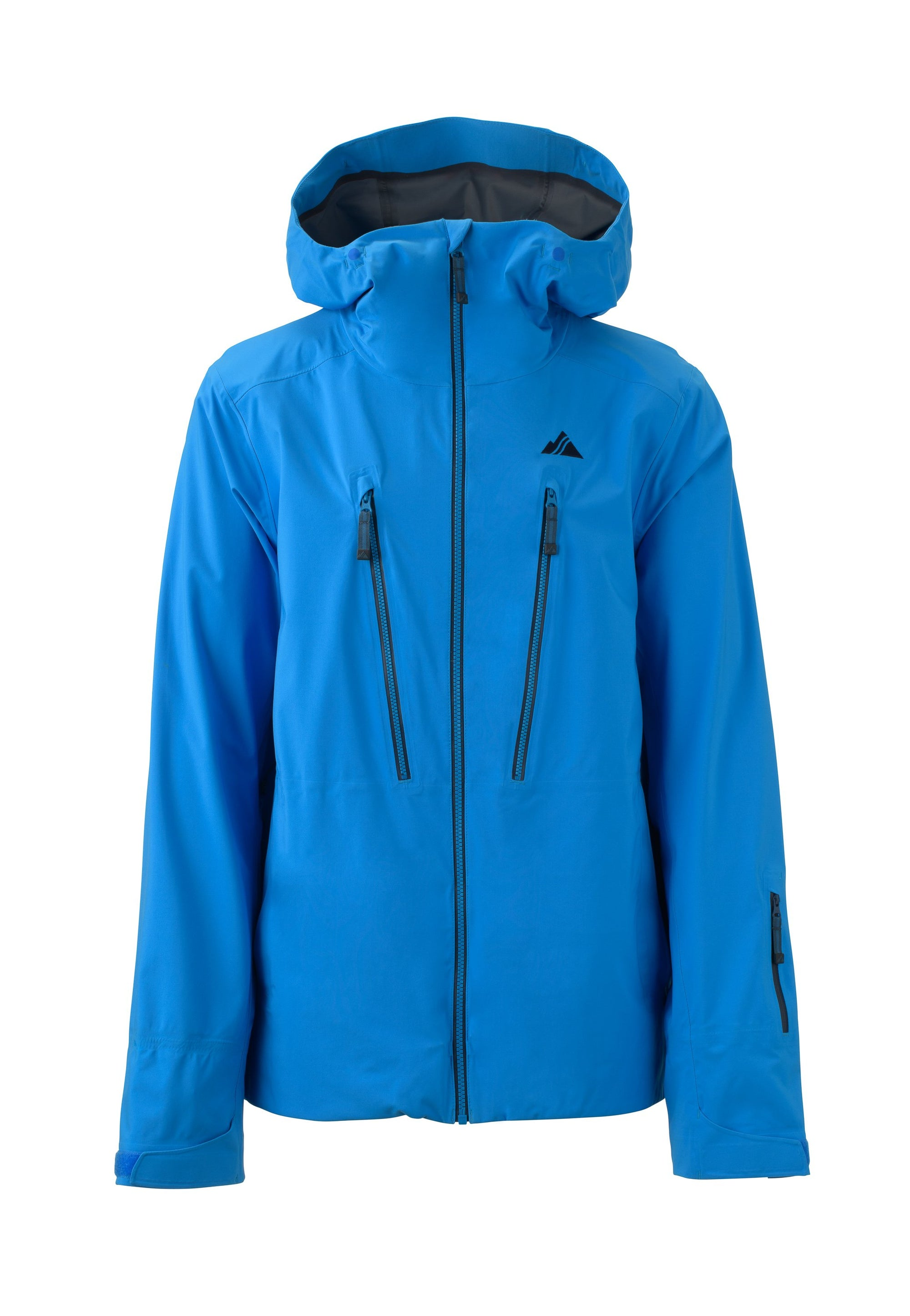 bright blue 2019 men's pyramid shell skiing and snowboarding jacket from strafe outerwear