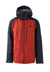 deep red 2019 men's nomad event shell skiing and snowboarding jacket from strafe outerwear