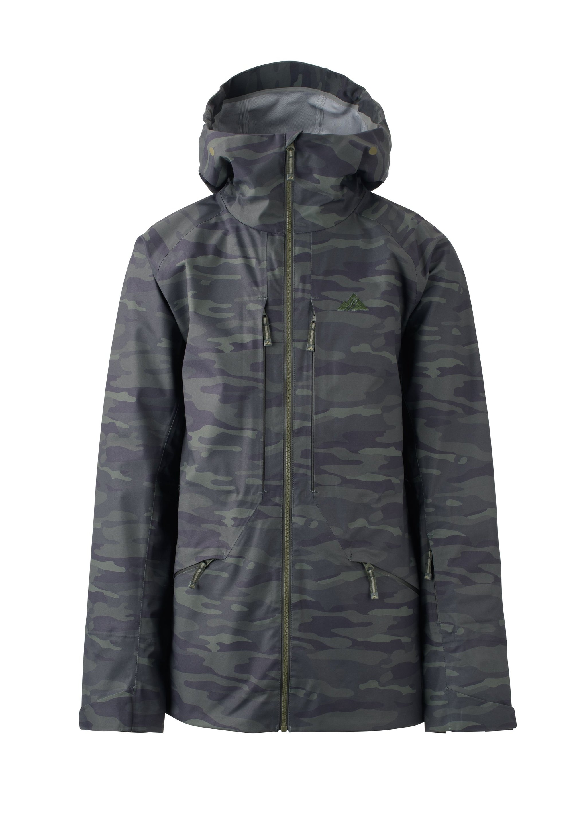 woods camo 2019 men's nomad event shell skiing and snowboarding jacket from strafe outerwear