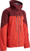 warm red 2018 men's cham shell skiing and snowboarding backcountry touring jacket from strafe outerwear