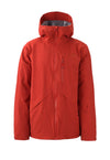 deep red 2019 men's hayden insulated skiing and snowboarding jacket from strafe outerwear