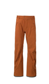 burnt orange 2019 men's capitol shell skiing and snowboarding pant from strafe outerwear