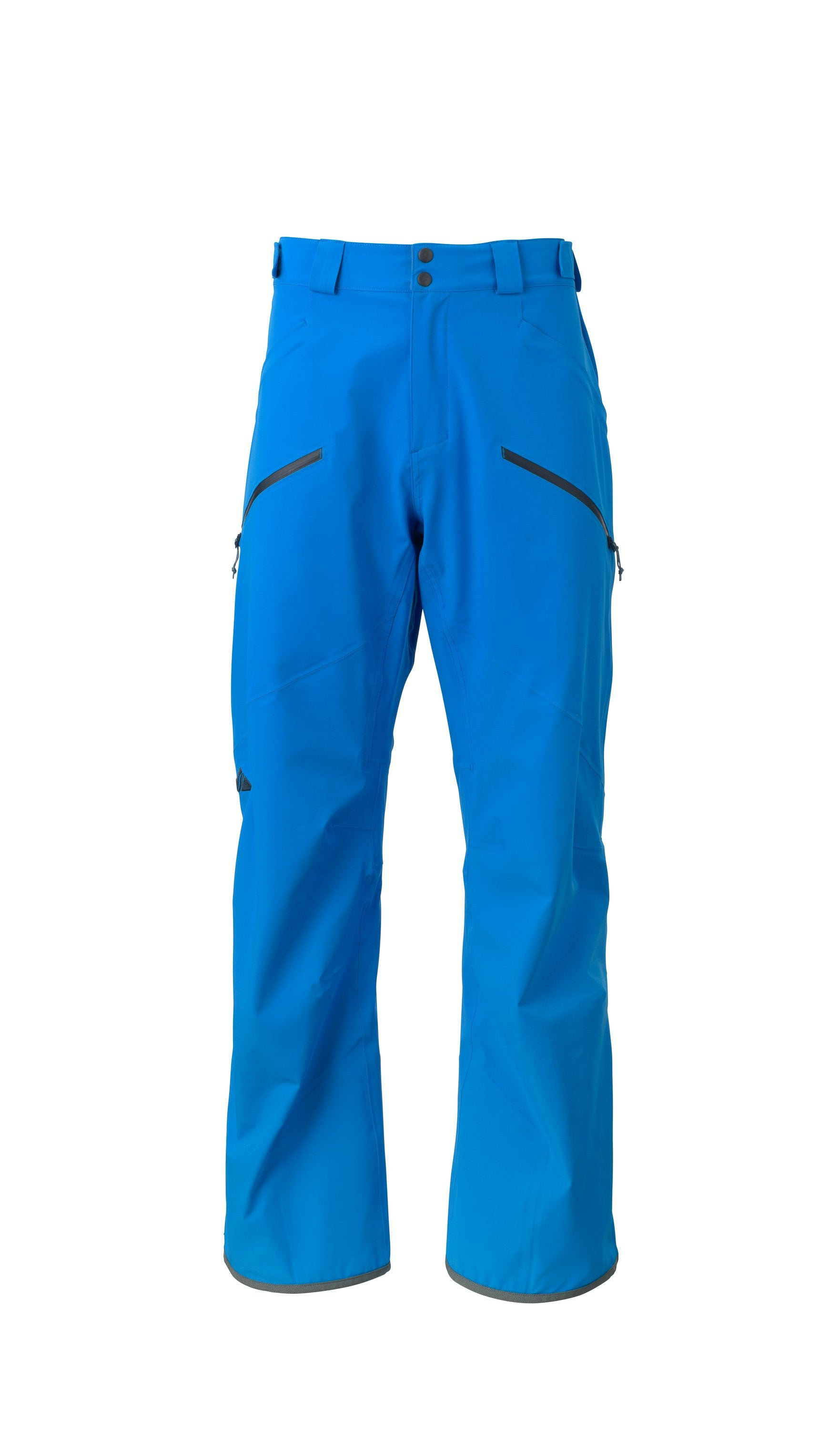 bright blue 2019 men's summit insulated skiing and snowboarding pant from strafe outerwear