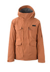 heather burnt orange 2019 men's conundrum insulated skiing and snowboarding jacket from strafe outerwear