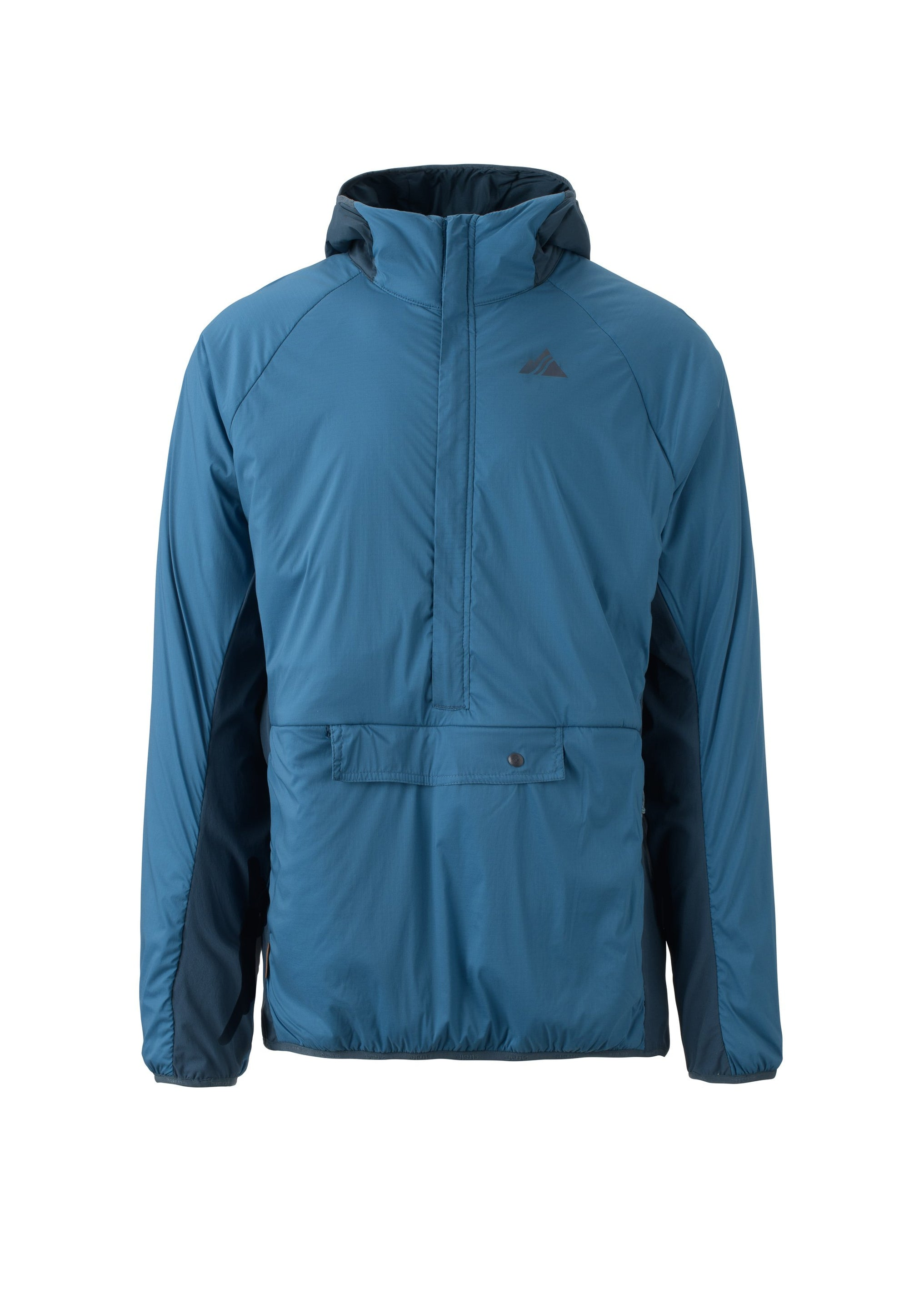 dusk blue 2019 men's deception polartec alpha anorak insulated skiing and snowboarding mid layer from strafe outerwear