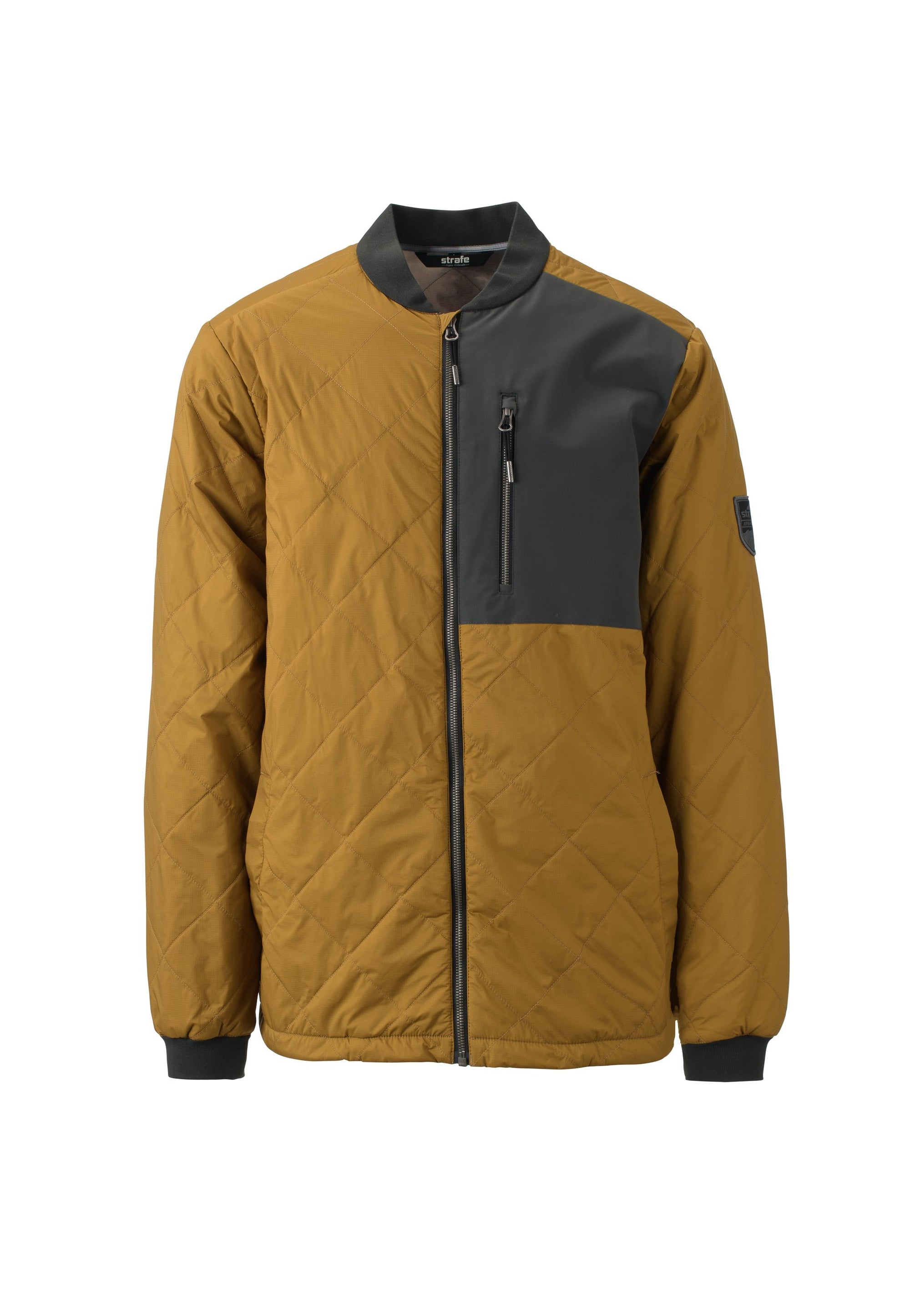 new vintage 2019 men's drifter bomber jacket mid layer from strafe outerwear for skiing and snowboarding
