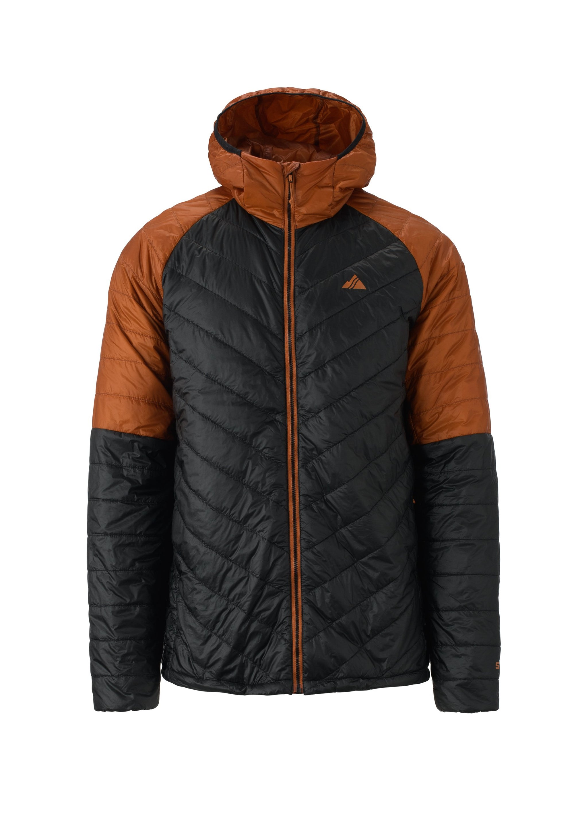 burnt orange 2019 men's aero insulated skiing and snowboarding down jacket from strafe outerwear
