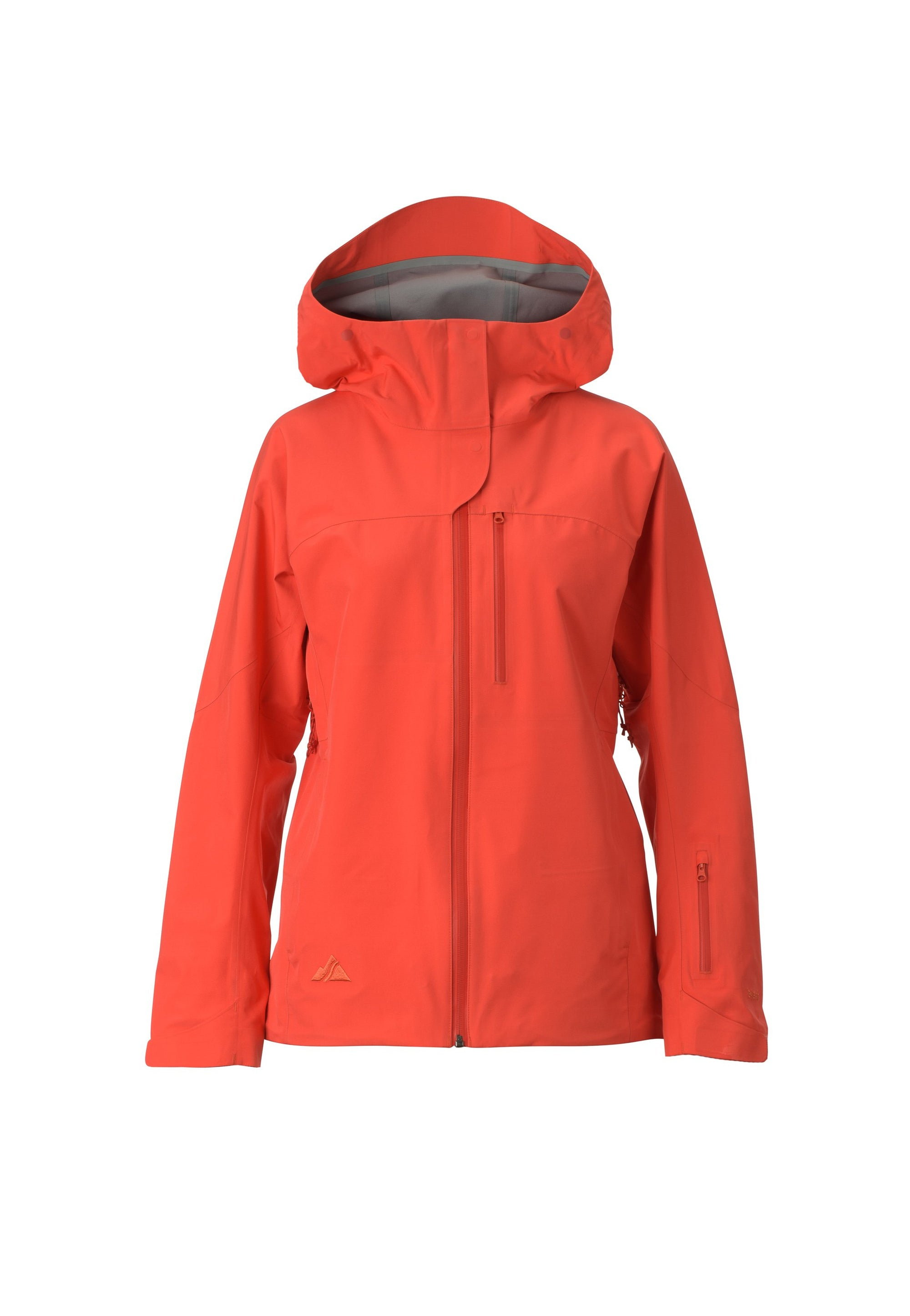 candy red 2019 women's meadow event shell skiing and snowboarding jacket from strafe outerwear
