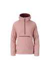 misty pink 2019 women's sunnyside polartec alpha anorak insulated skiing and snowboarding mid layer from strafe outerwear