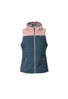 new navy 2019 women's cirque puffy insulated skiing and snowboarding down vest from strafe outerwear.