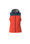 candy red 2019 women's cirque puffy insulated skiing and snowboarding down vest from strafe outerwear
