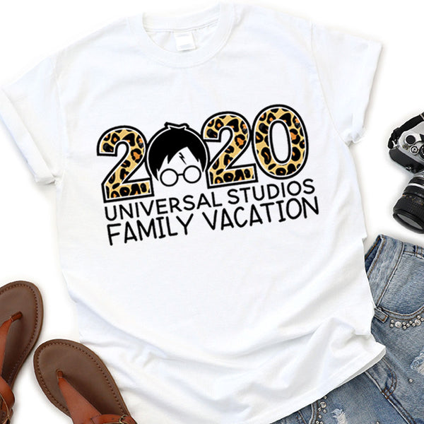 Wizarding World | Universal Studios | 2020 Themed Vacation Shirts (Animal Print Leopard)