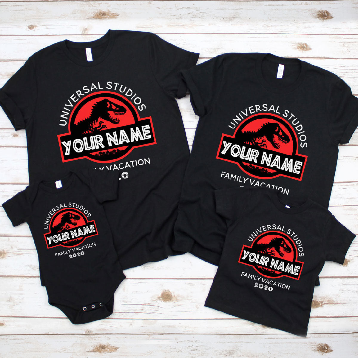 Personalized Jurassic Family & Group Shirts