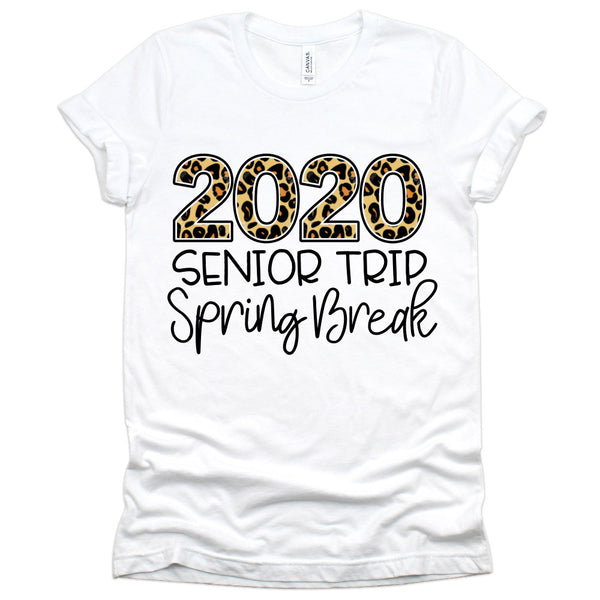 2020 Senior Trip Spring Break T-Shirt (Animal Print Leopard)
