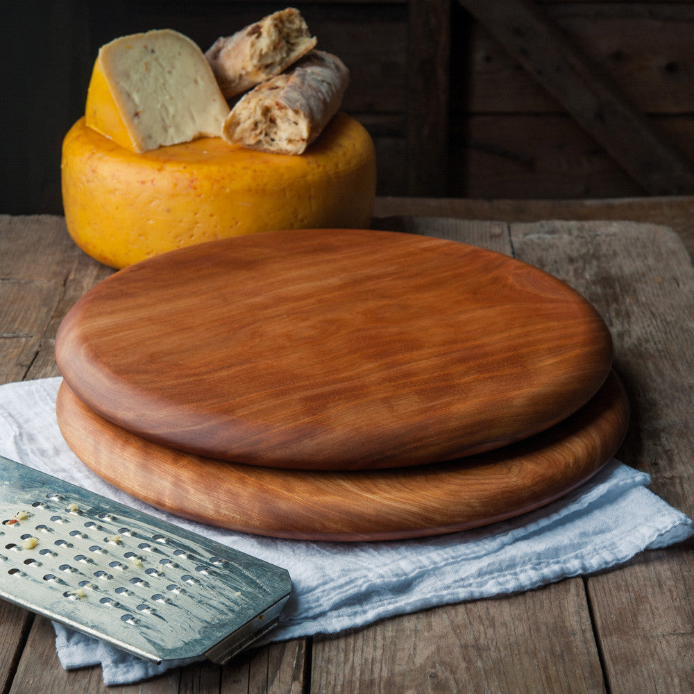 Round Cheese or Pizza Board - Cattails Woodwork
