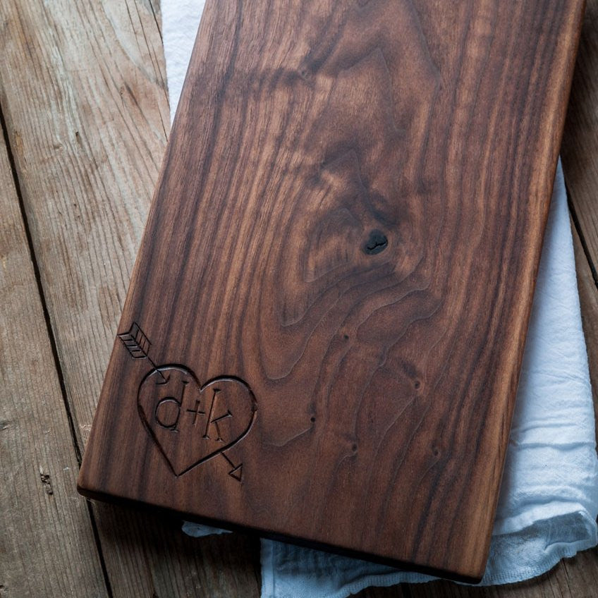 Personalized  Serving Board - Cattails Woodwork