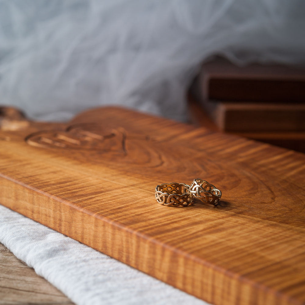 Carved  Vintage Style Breadboard - Cattails Woodwork