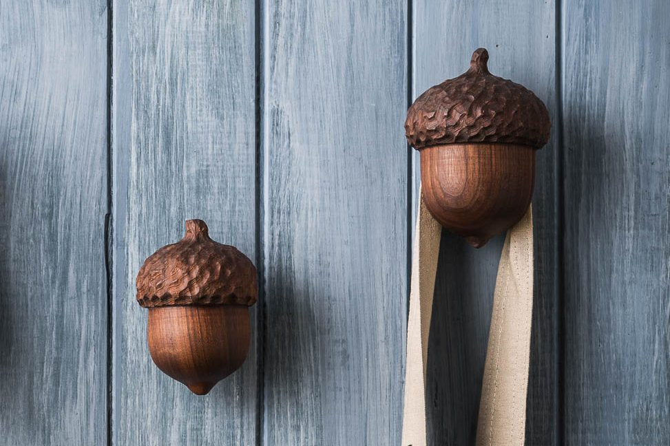 Acorn Wall Hangers - Cattails Woodwork