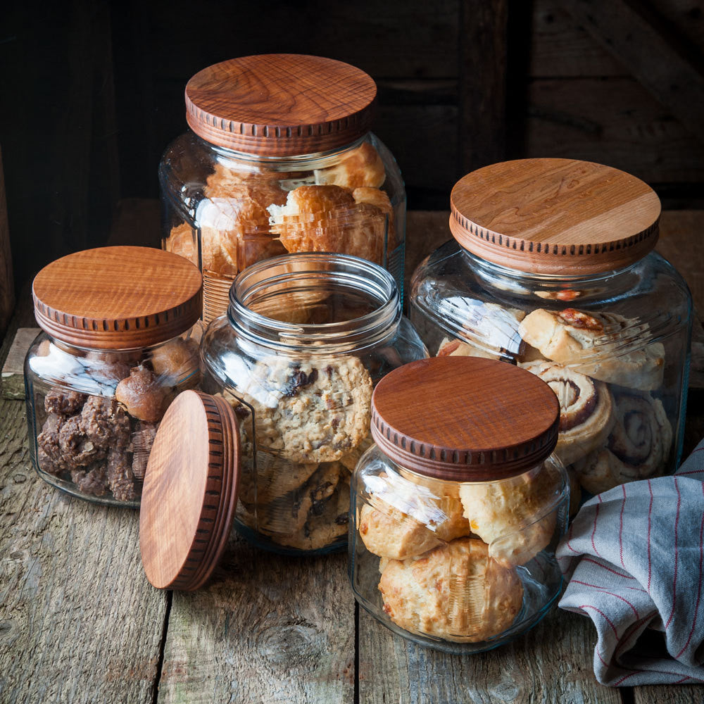 Wood Pantry Jar Lids - Cattails Woodwork