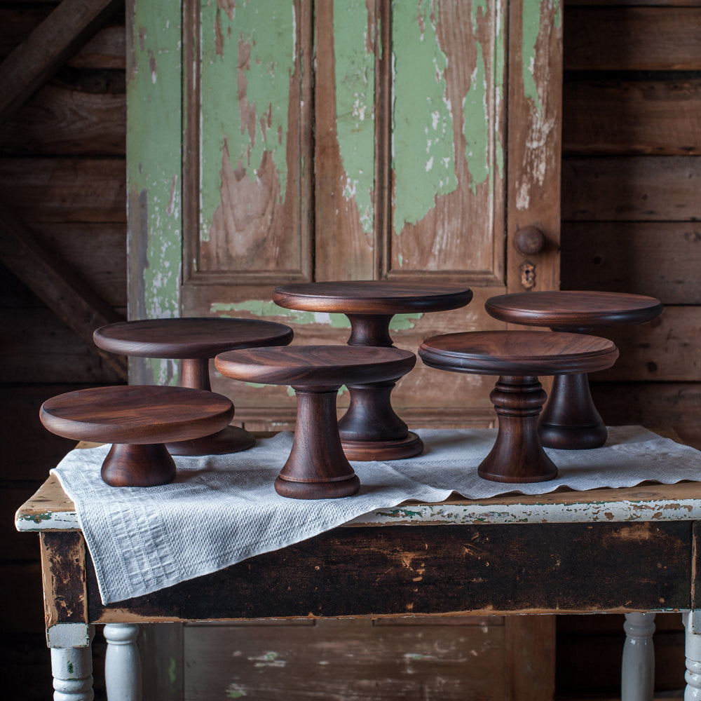 Walnut Cake Stand - Cattails Woodwork