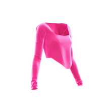 Load image into Gallery viewer, HOT JUICY 2.0 VELVET CORSET IN HOT PINK
