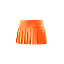 Load image into Gallery viewer, HOT JUICY 2.0 VELVET MINI SKIRT IN NEON ORANGE