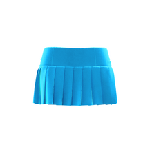 Load image into Gallery viewer, HOT JUICY 2.0 VELVET MINI SKIRT IN TURQUOISE