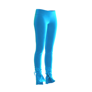 HOT JUICY 2.0 VELVET SKINNY PANTS IN TURQUOISE
