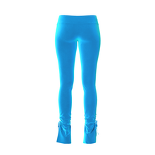 Load image into Gallery viewer, HOT JUICY 2.0 VELVET SKINNY PANTS IN TURQUOISE