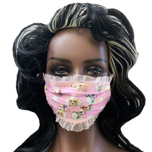 Load image into Gallery viewer, POODLE FACE MASK 🐩BABY PINK